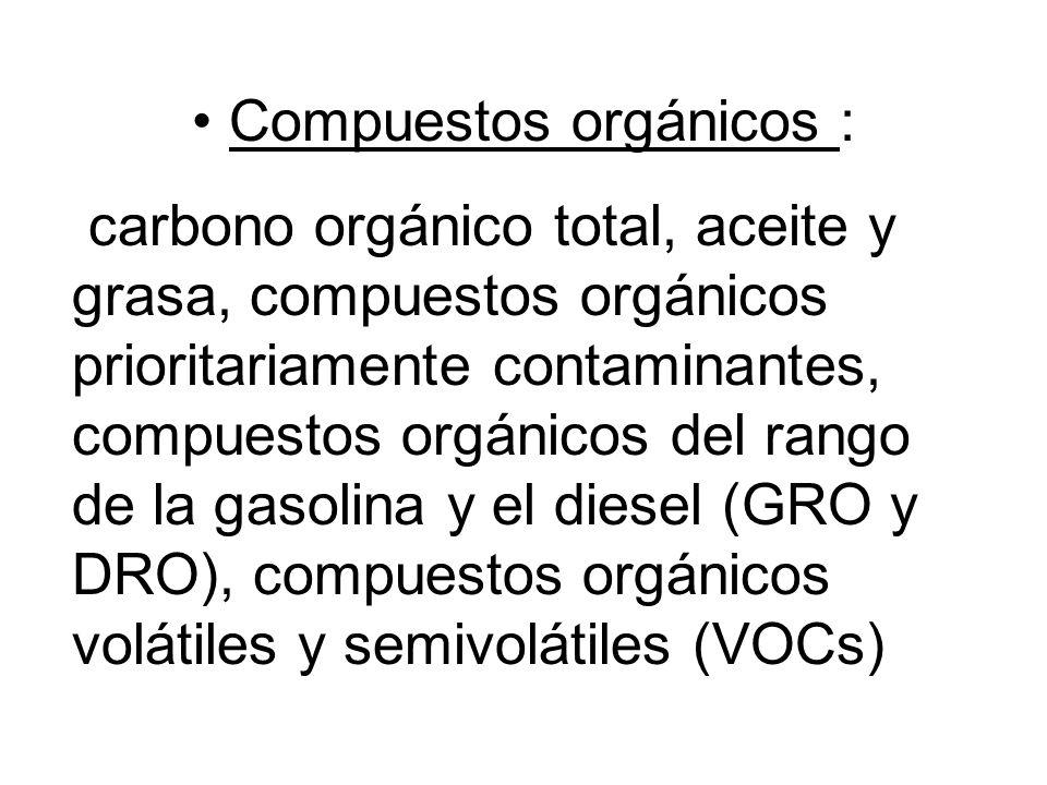 Compuestos orgánicos :
