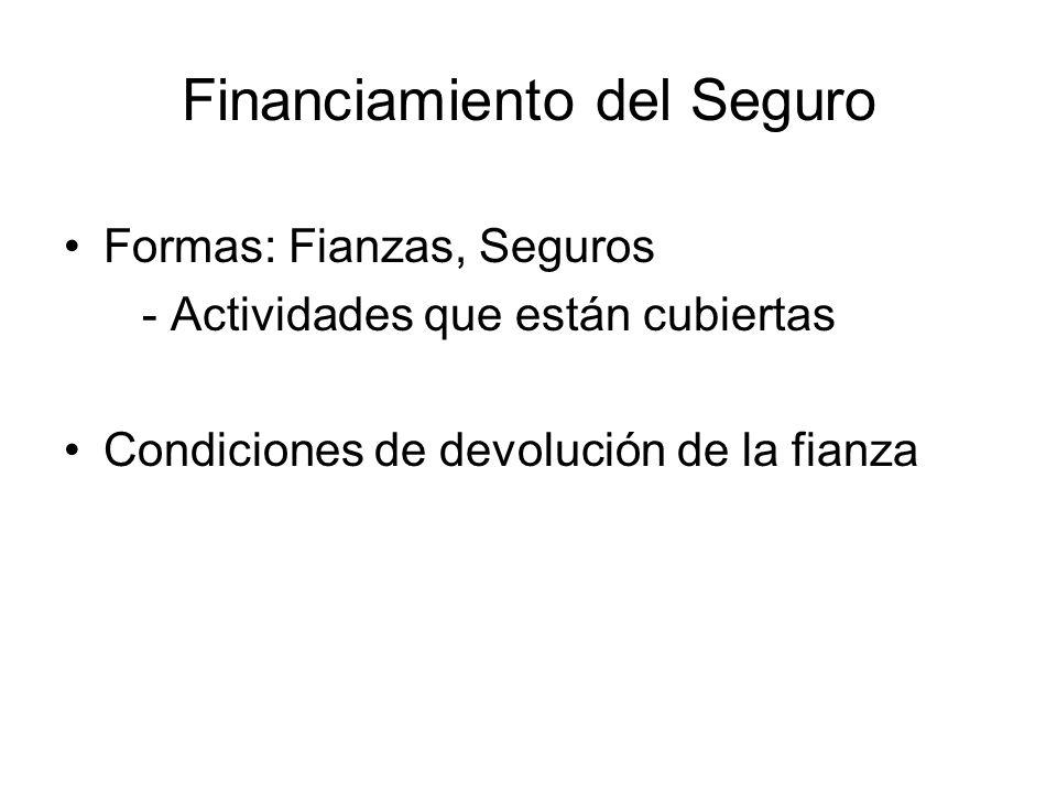 Financiamiento del Seguro