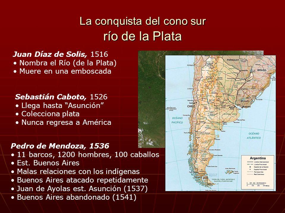 La conquista del cono sur río de la Plata