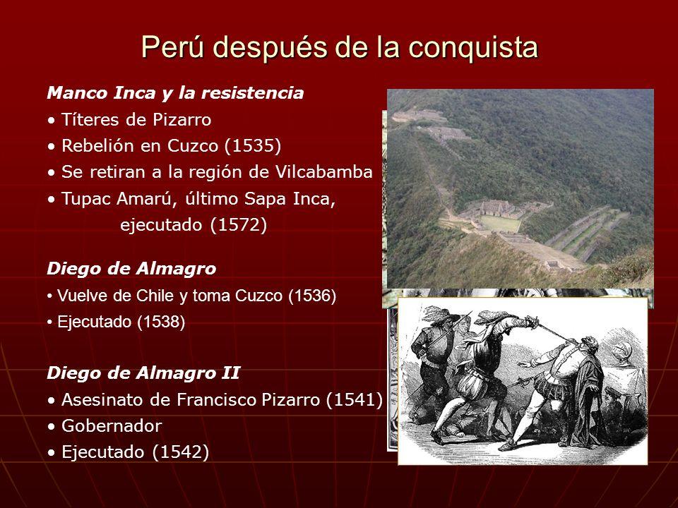 Perú después de la conquista