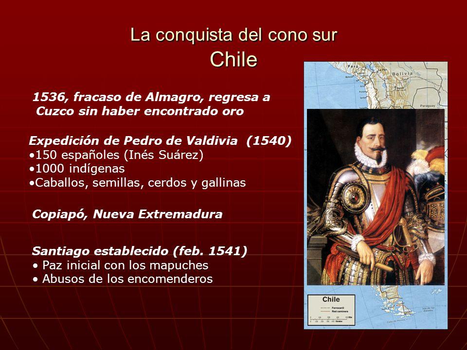 La conquista del cono sur Chile