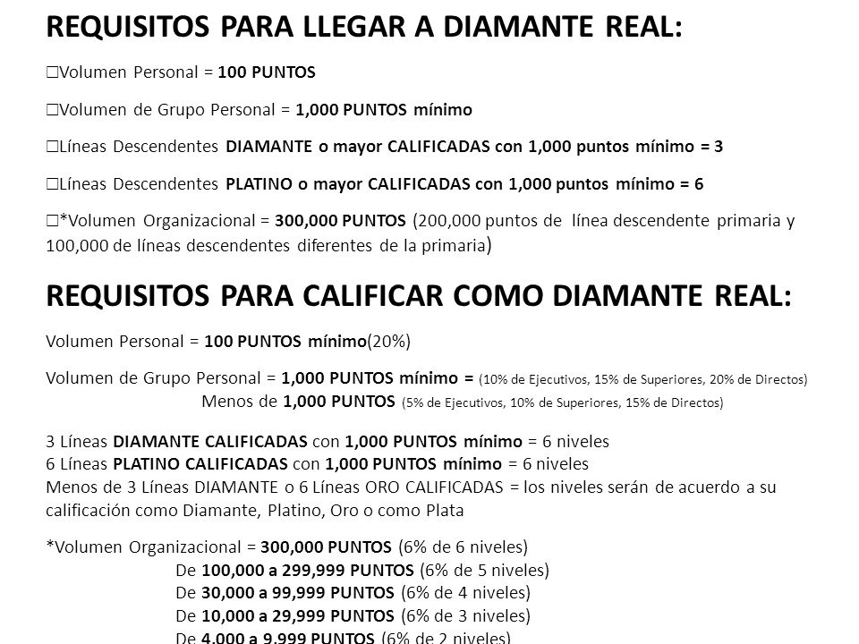 REQUISITOS PARA LLEGAR A DIAMANTE REAL:
