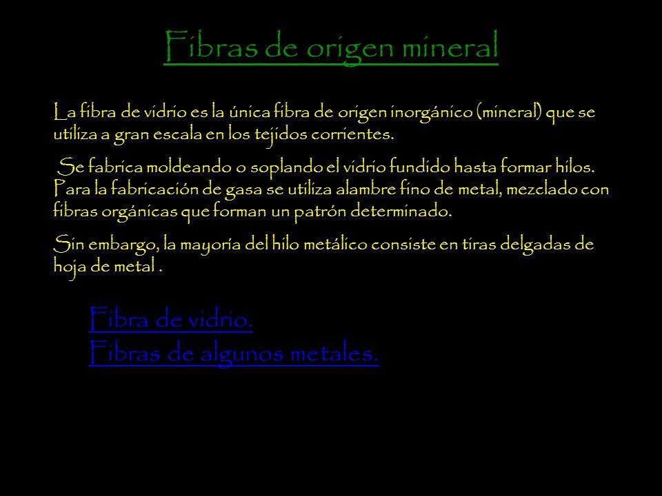 Fibras de origen mineral