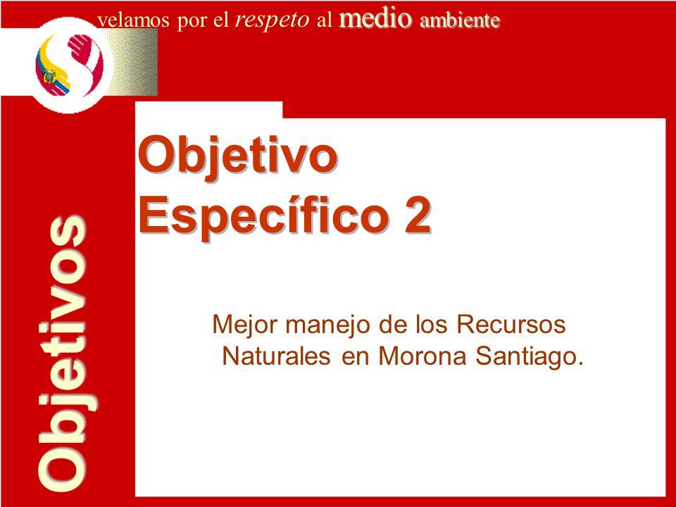 Mejor manejo de los Recursos Naturales en Morona Santiago.