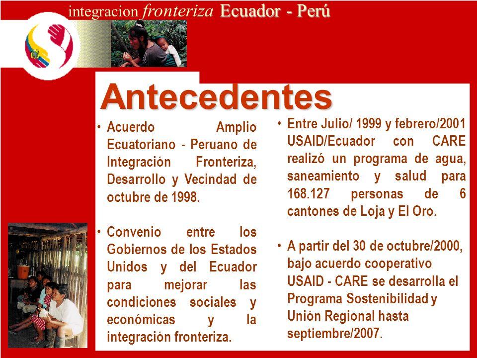 integracion fronteriza Ecuador - Perú