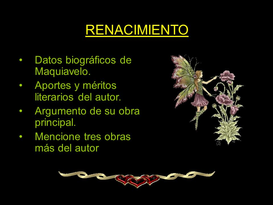 RENACIMIENTO Datos biográficos de Maquiavelo.