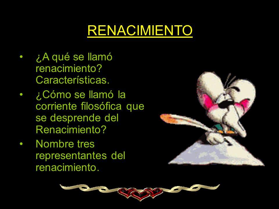 RENACIMIENTO ¿A qué se llamó renacimiento Características.