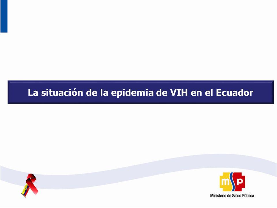 La situación de la epidemia de VIH en el Ecuador