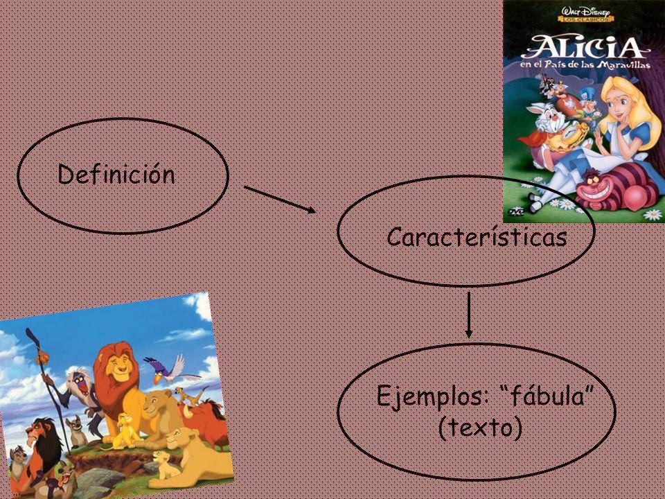 Definición Características Ejemplos: fábula (texto)