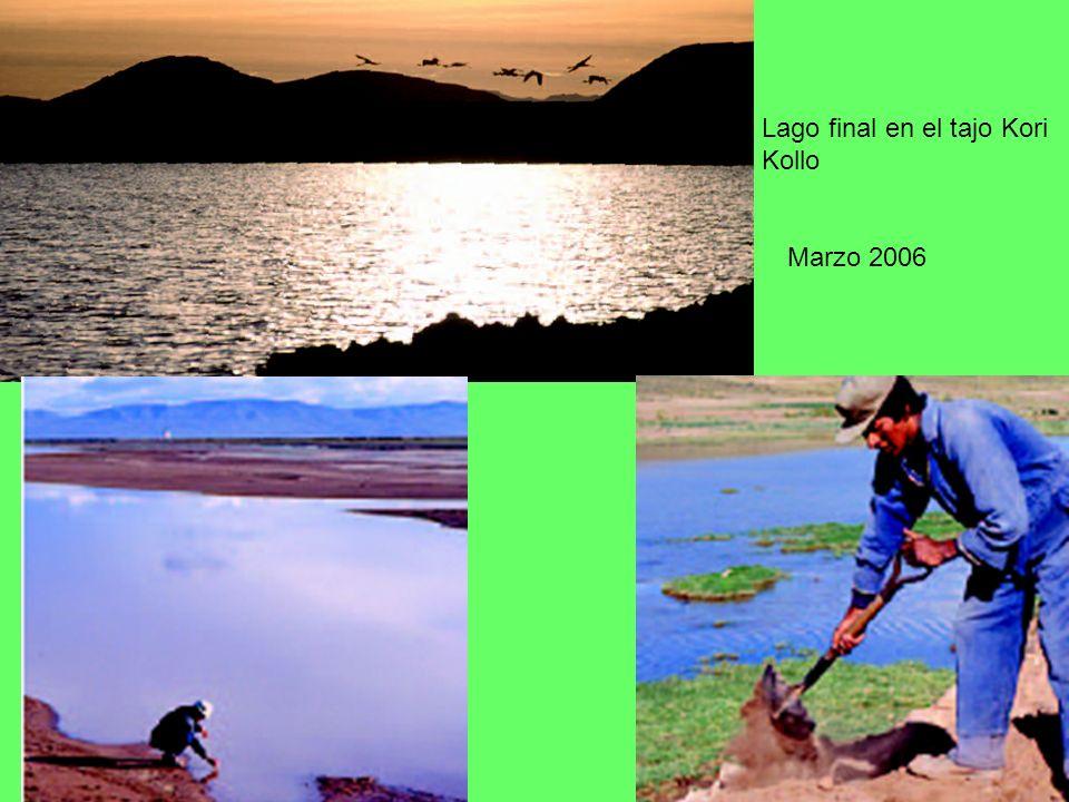 Lago final en el tajo Kori Kollo