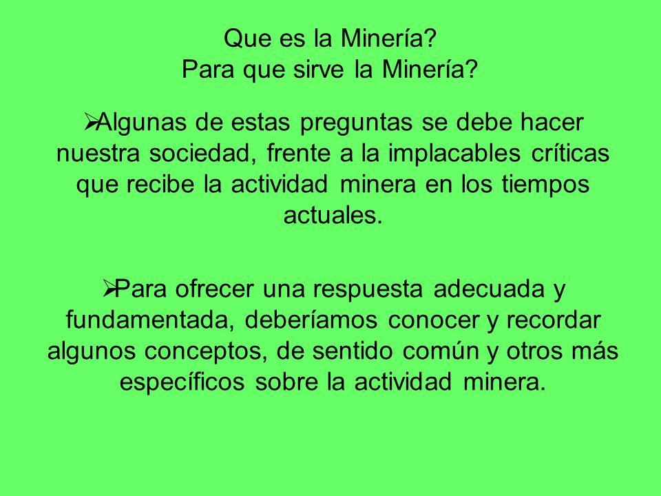 Que es la Minería Para que sirve la Minería