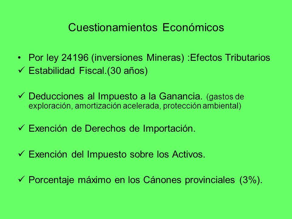 Cuestionamientos Económicos