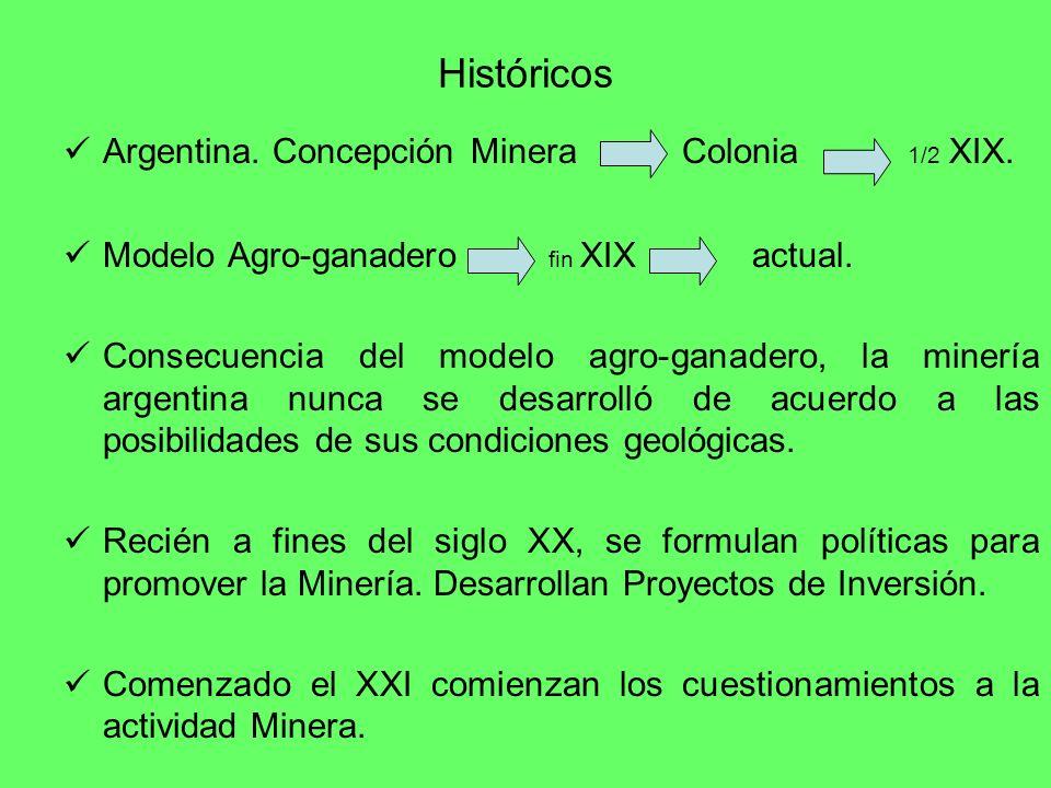 Históricos Argentina. Concepción Minera Colonia 1/2 XIX.