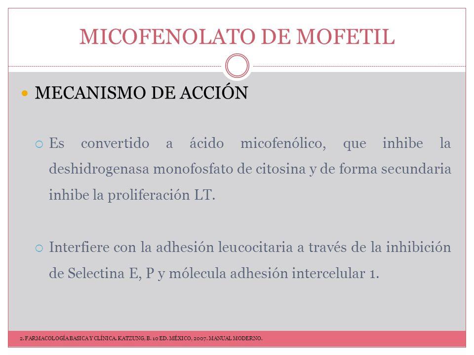 MICOFENOLATO DE MOFETIL
