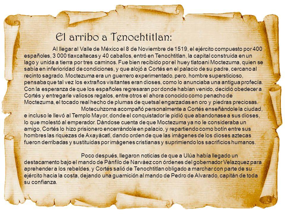 El arribo a Tenochtitlan: