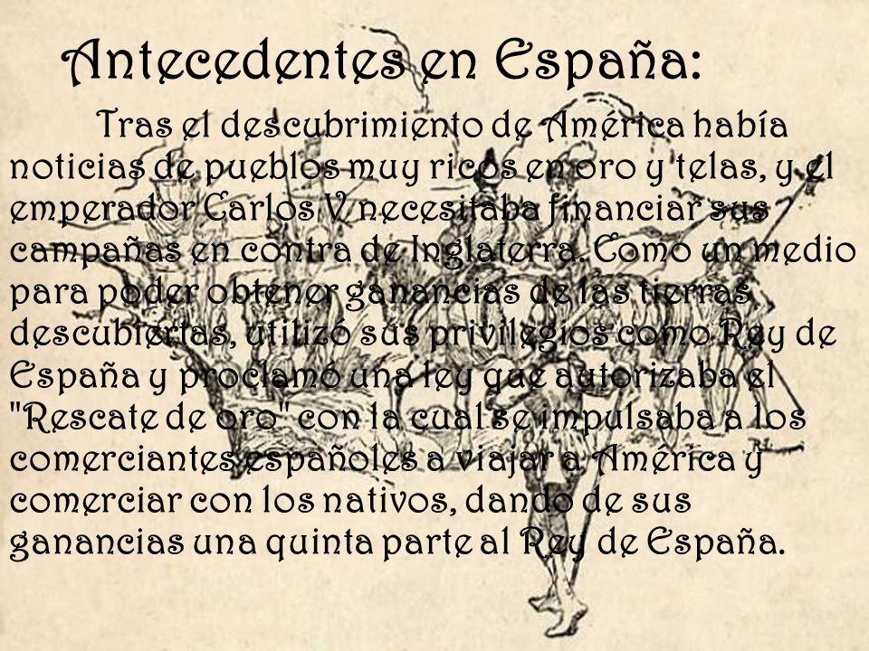 Antecedentes en España: