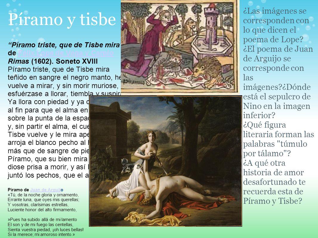 ¿Las imágenes se corresponden con lo que dicen el poema de Lope
