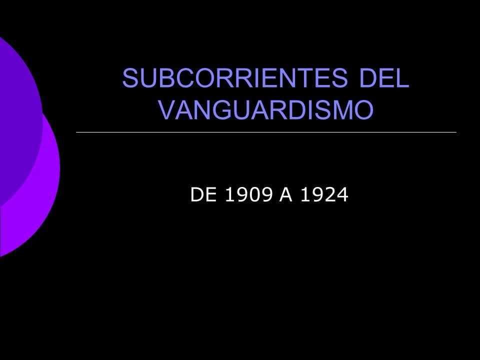 SUBCORRIENTES DEL VANGUARDISMO
