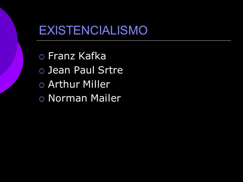 EXISTENCIALISMO Franz Kafka Jean Paul Srtre Arthur Miller
