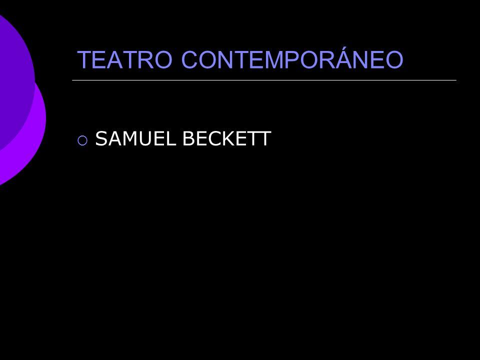TEATRO CONTEMPORÁNEO SAMUEL BECKETT