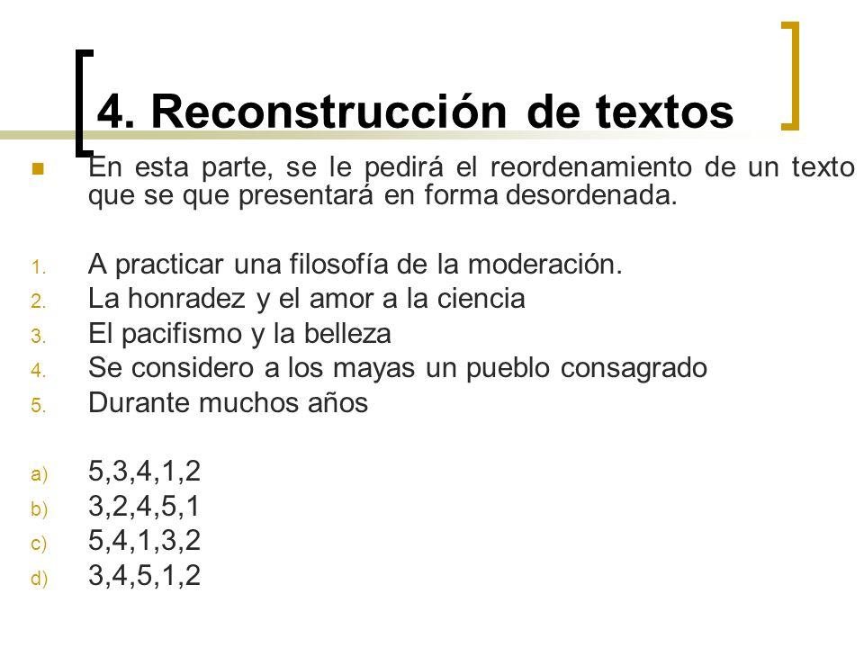 4. Reconstrucción de textos