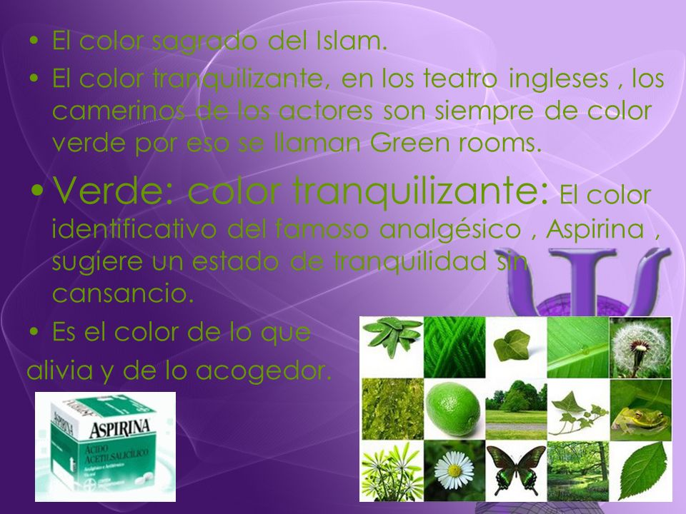 El color sagrado del Islam.