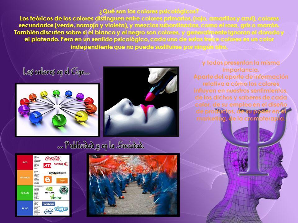 ¿Qué son los colores psicológicos