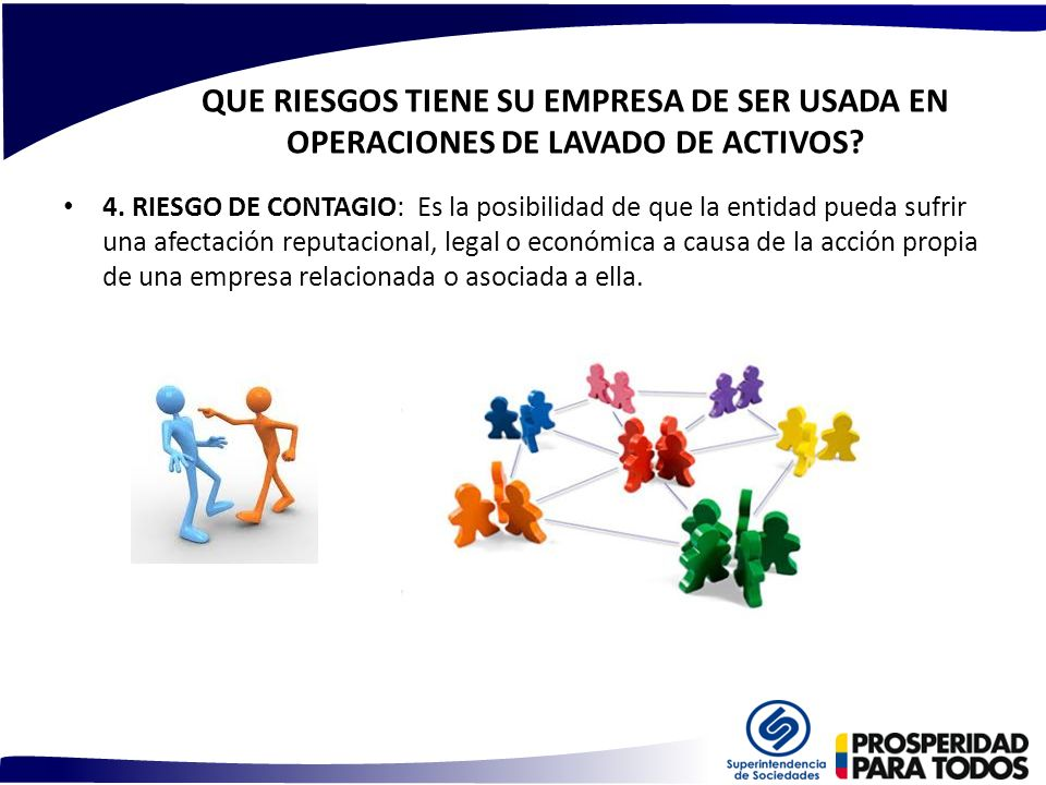 QUE RIESGOS TIENE SU EMPRESA DE SER USADA EN OPERACIONES DE LAVADO DE ACTIVOS