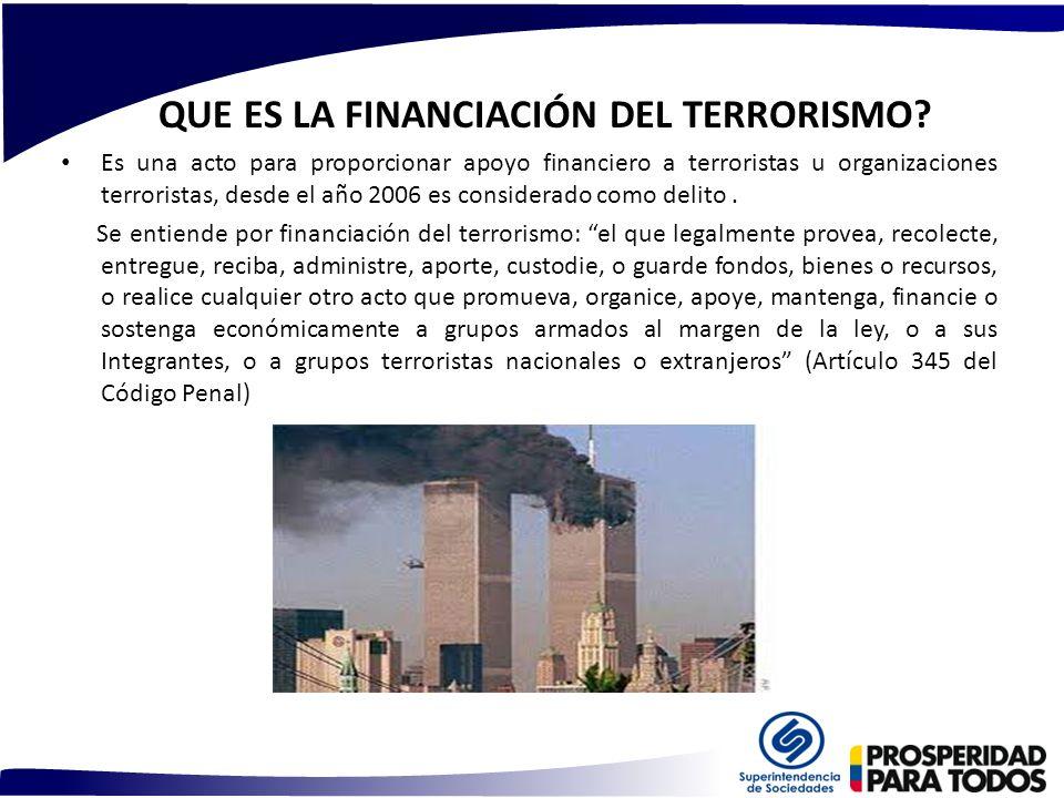 QUE ES LA FINANCIACIÓN DEL TERRORISMO
