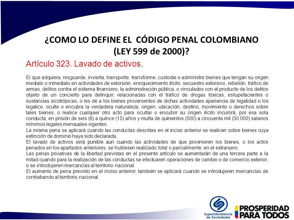 ¿COMO LO DEFINE EL CÓDIGO PENAL COLOMBIANO (LEY 599 de 2000)