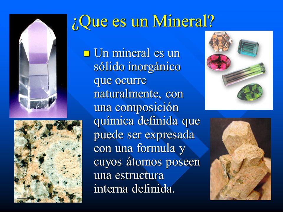 ¿Que es un Mineral