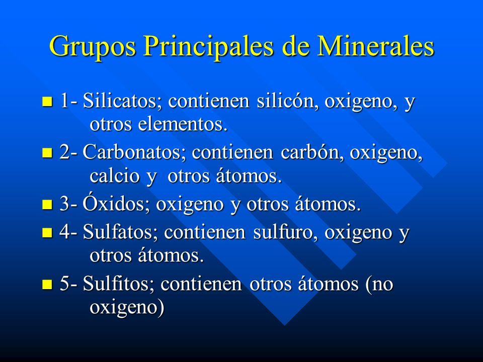 Grupos Principales de Minerales