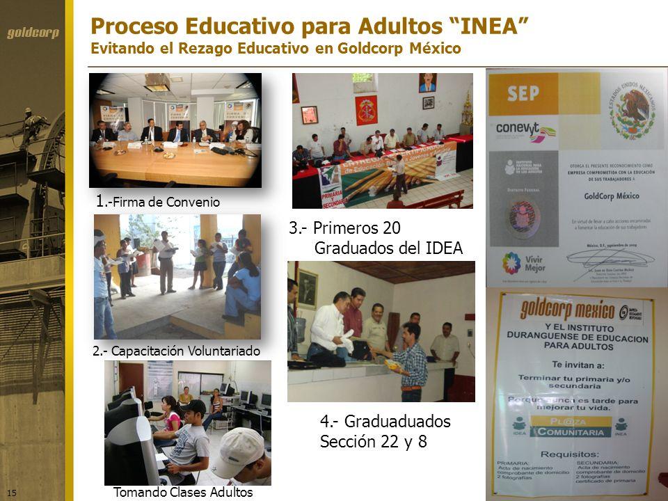 Proceso Educativo para Adultos INEA Evitando el Rezago Educativo en Goldcorp México