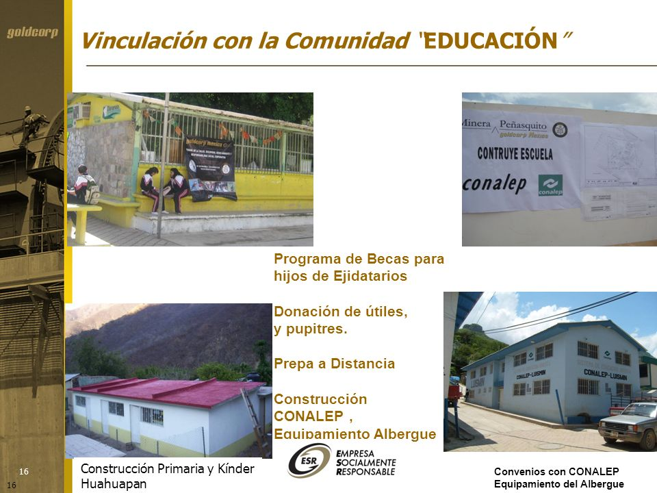 Vinculación con la Comunidad EDUCACIÓN