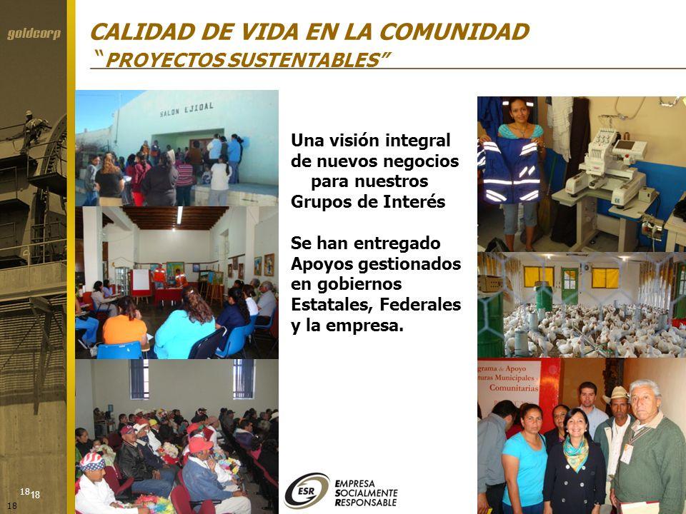 CALIDAD DE VIDA EN LA COMUNIDAD PROYECTOS SUSTENTABLES