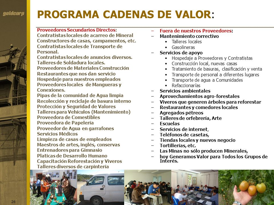 PROGRAMA CADENAS DE VALOR: