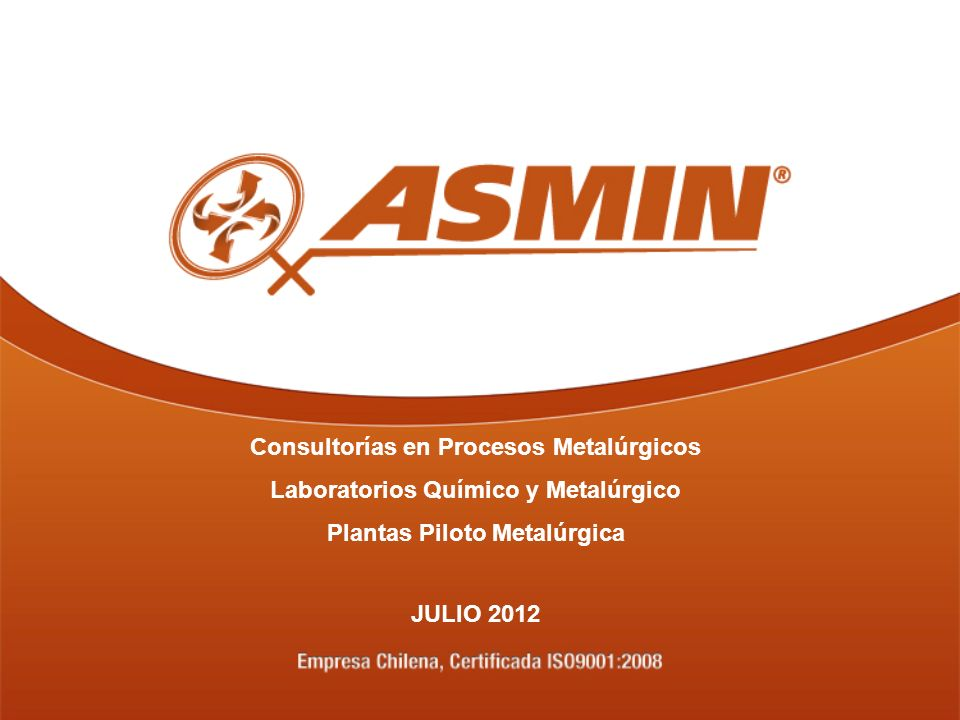 Consultorías en Procesos Metalúrgicos