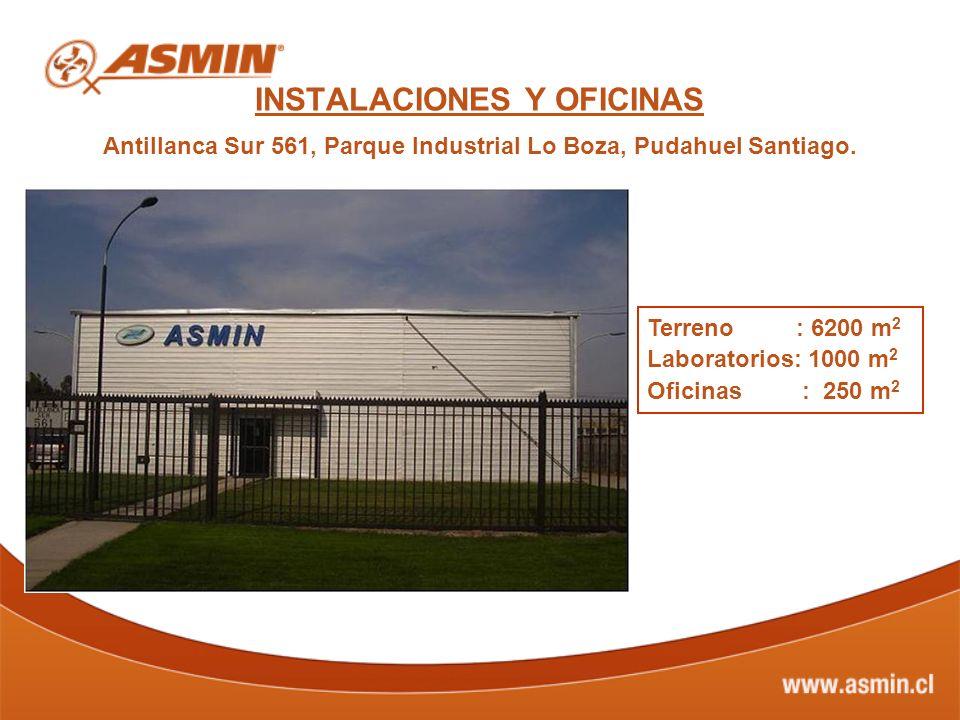 INSTALACIONES Y OFICINAS Antillanca Sur 561, Parque Industrial Lo Boza, Pudahuel Santiago.