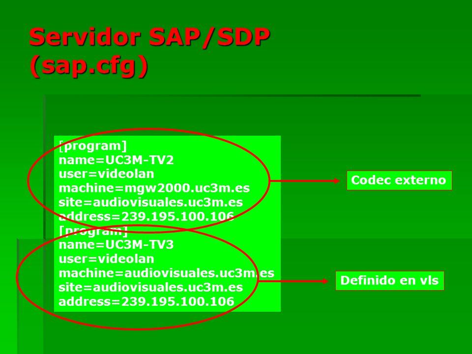 Servidor SAP/SDP (sap.cfg)