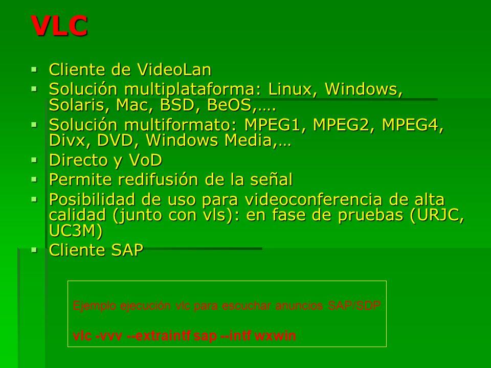 VLC Cliente de VideoLan