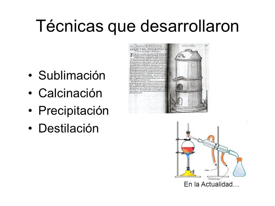 Técnicas que desarrollaron