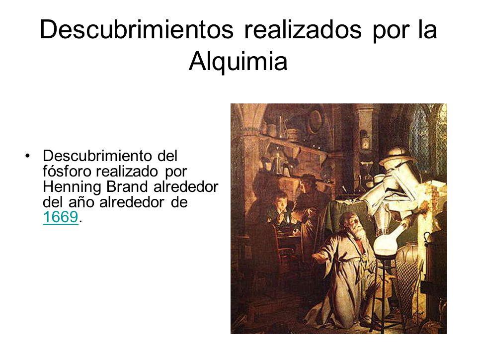 Descubrimientos realizados por la Alquimia