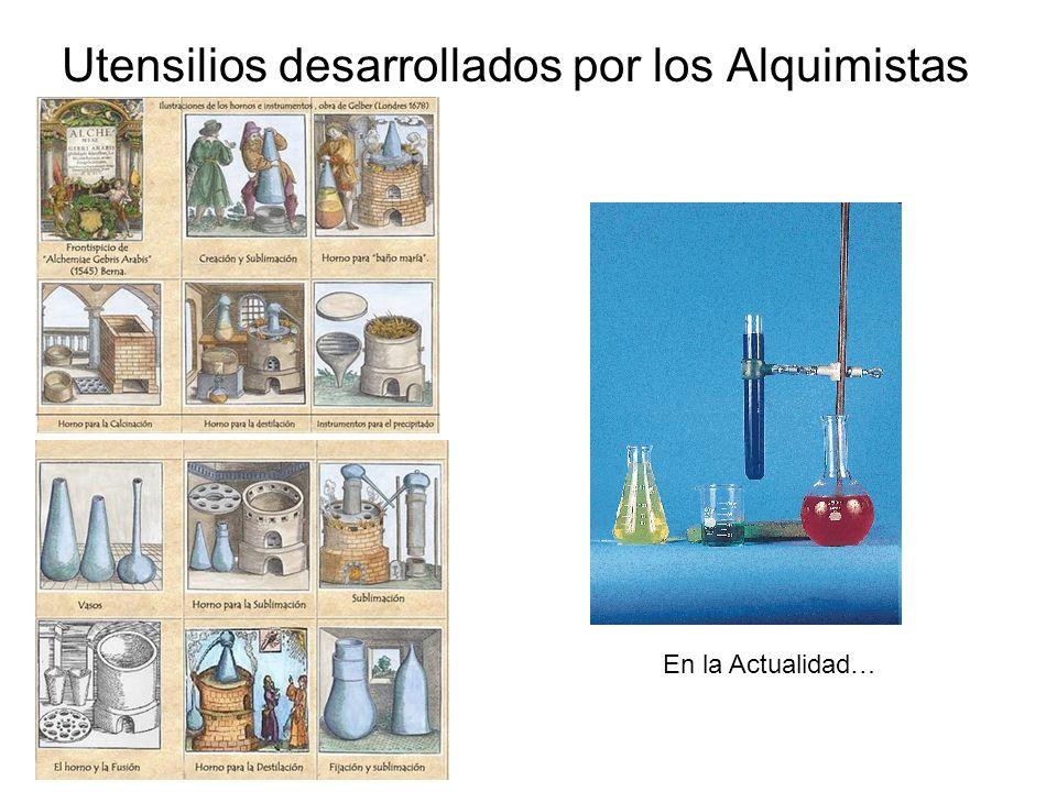 Utensilios desarrollados por los Alquimistas