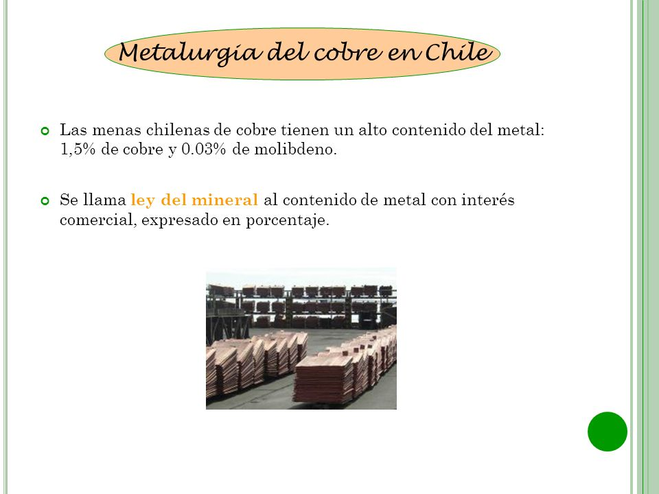 Metalurgia del cobre en Chile