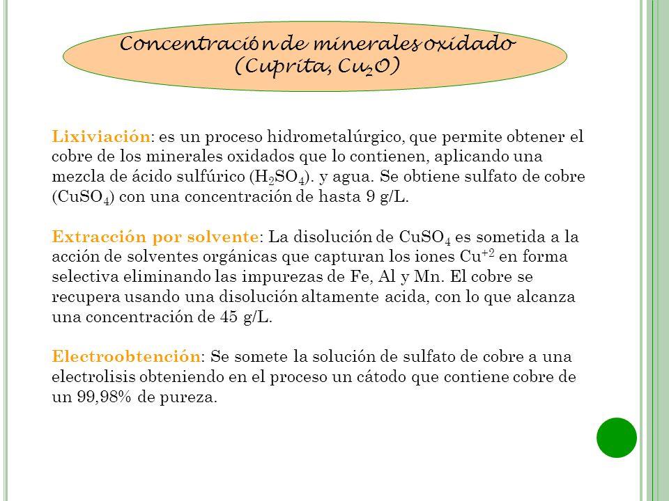 Concentración de minerales oxidado
