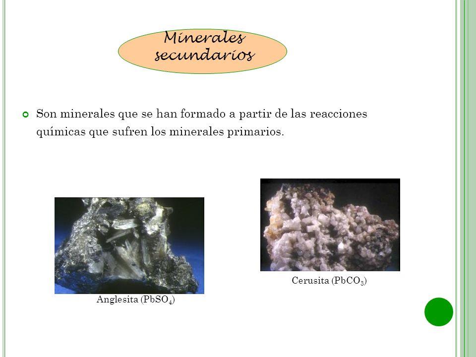Minerales secundarios