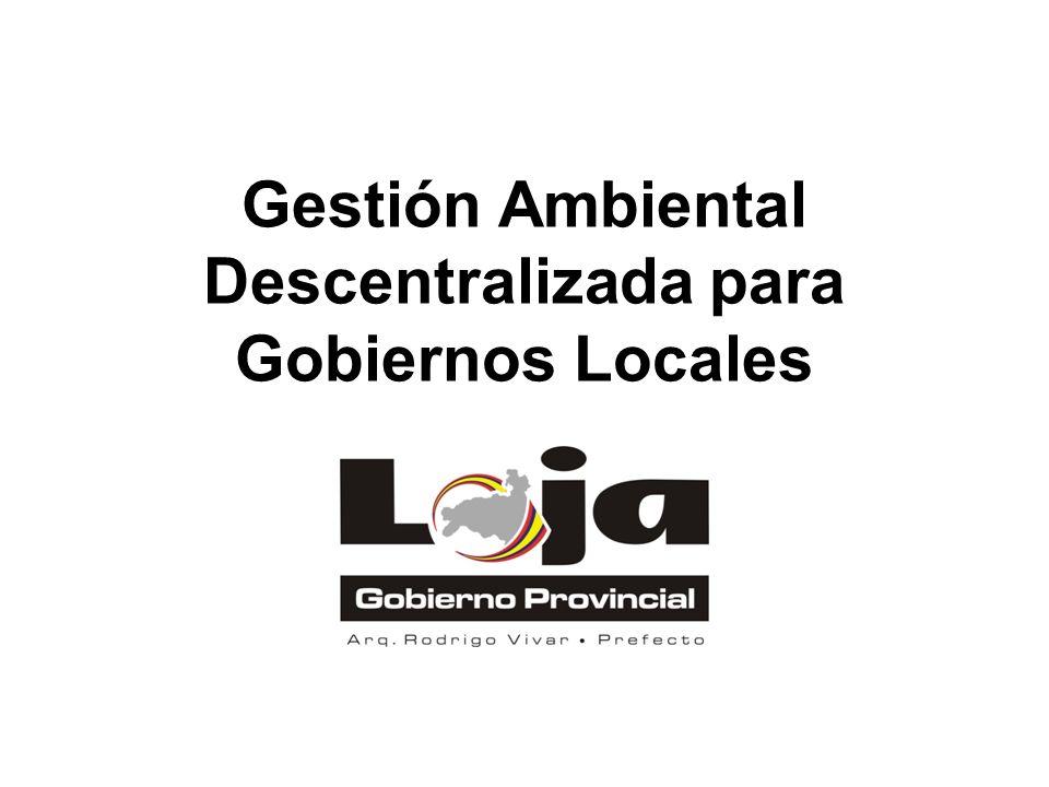 Gestión Ambiental Descentralizada para Gobiernos Locales