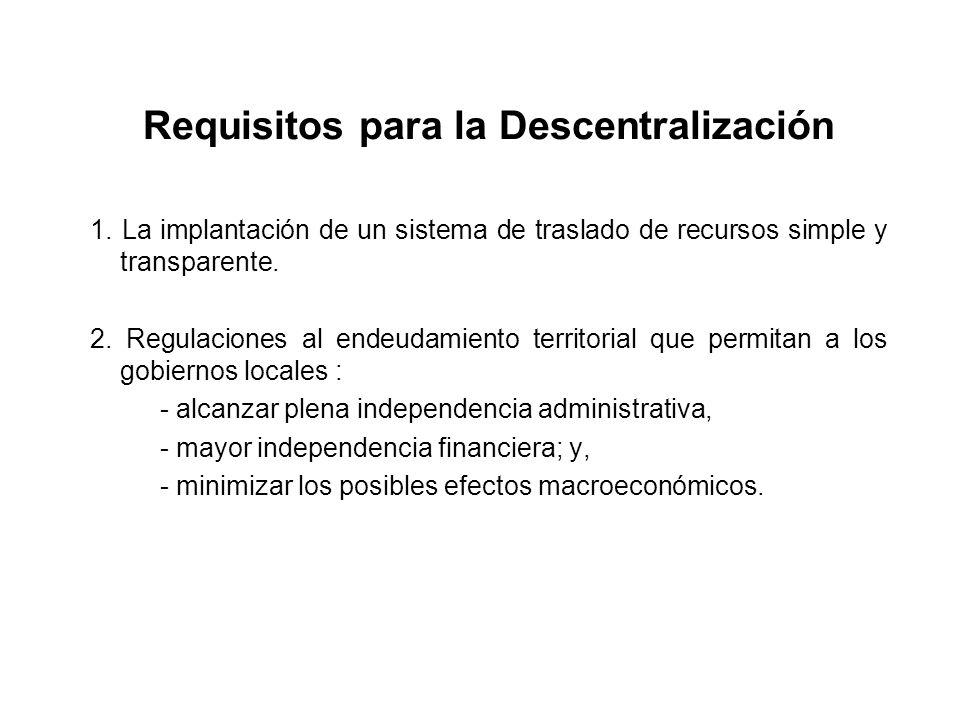 Requisitos para la Descentralización