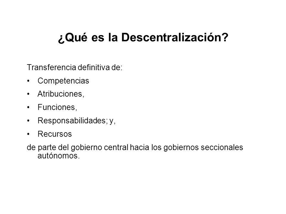 ¿Qué es la Descentralización