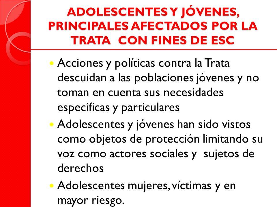 Adolescentes mujeres, víctimas y en mayor riesgo.
